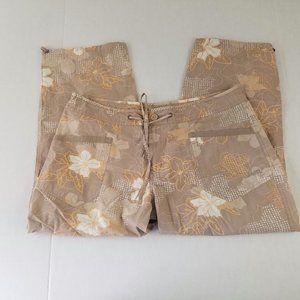 Jeep Womens Capri Pants Size 36 Tan Floral…